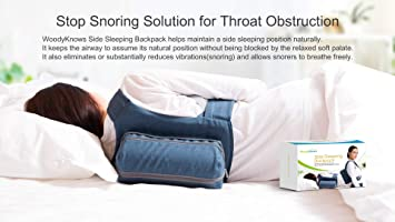 WoodyKnows Side Sleeping Backpack Anti-Snoring Adjustable Pillow, Solution  to Tongue