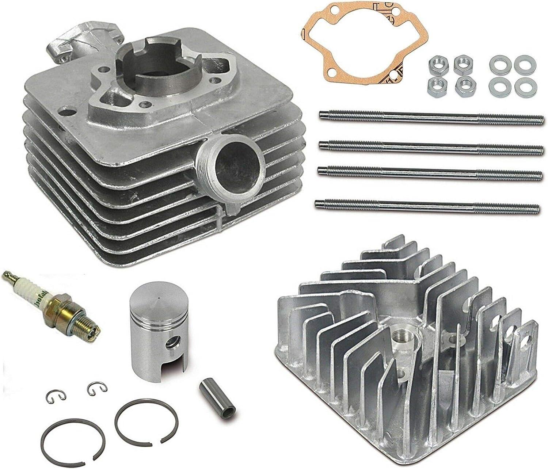 Zylinder Komplett Set Für Simson S50 Kolben Zylinderkopf Stehbolzen Dichtung Auto