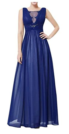 SimpleDressUK Long Royal Blue Chiffon Mother of the Bride Prom Dresses Custom Made Size Custom Made