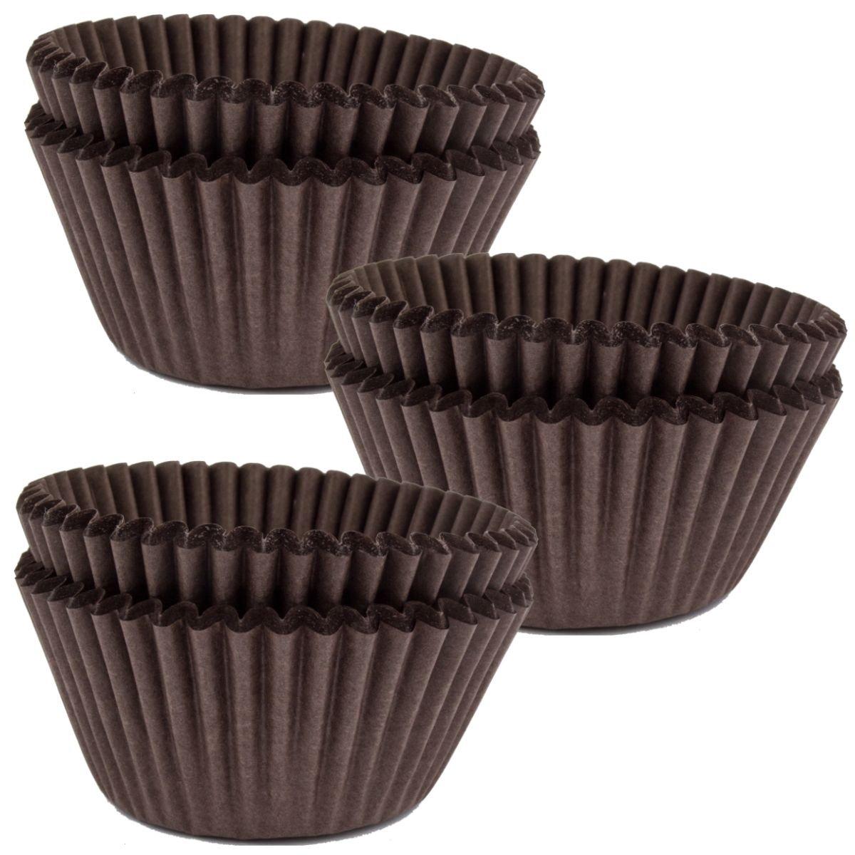 High Quality Paper Muffin, Cupcake Cases - Plain Colours - Triple Packs (Black) Culpitt