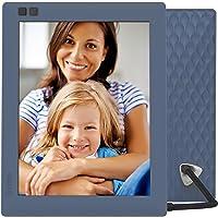 Nixplay Seed 8 pouces - Cadre Photo Numérique WiFi Haute Résolution, connecté réseaux sociaux- Facebook, Instagram, Dropbox, Flickr & Google Photos. Télécommande, détecteur de mouvement. Le cadeau idéal pour votre famille et amis. Couleur: Bleu. W08D