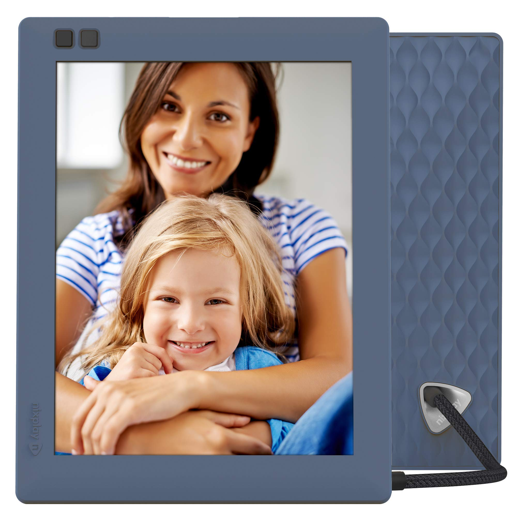 Nixplay Seed 8 Inch Digital Wi-Fi Photo Frame W08D (Blue) - Smart Frame with IPS Display, Motion Sensor and 10GB Online Storage, Display and Share Photos with Friends via Nixplay Mobile App by nixplay