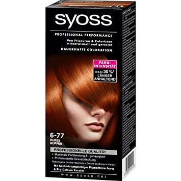 syoss professional performance coloration 6 77 pure copper - Coloration Syoss