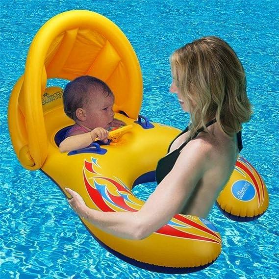 Anillo de natación para bebé,Hoktoy flotador de natación inflable de la piscina del bebé con asiento para niñas Piscina de natación, Flotador de natación ...