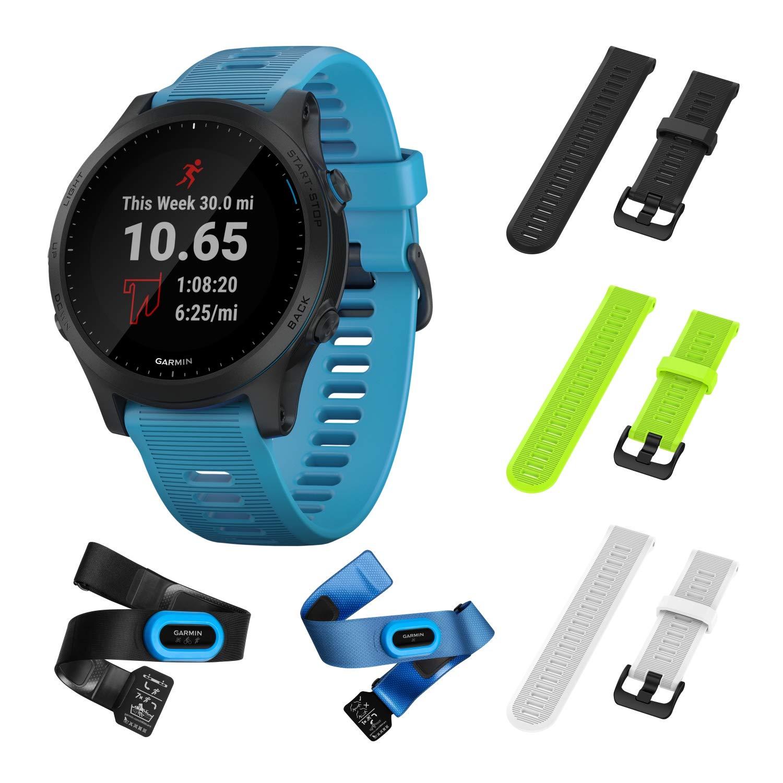 Garmin Forerunner 945 Bundle, Premium GPS Running/Triathlon Smartwatch with Music Included Wearable4U 3 Straps Bundle…