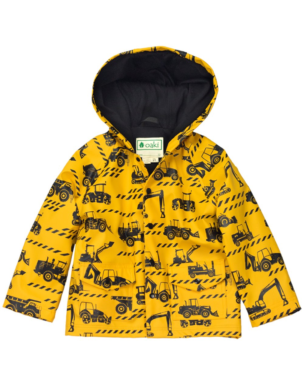 Oakiwear Children's Rain Jacket, Construction Vehicles 8