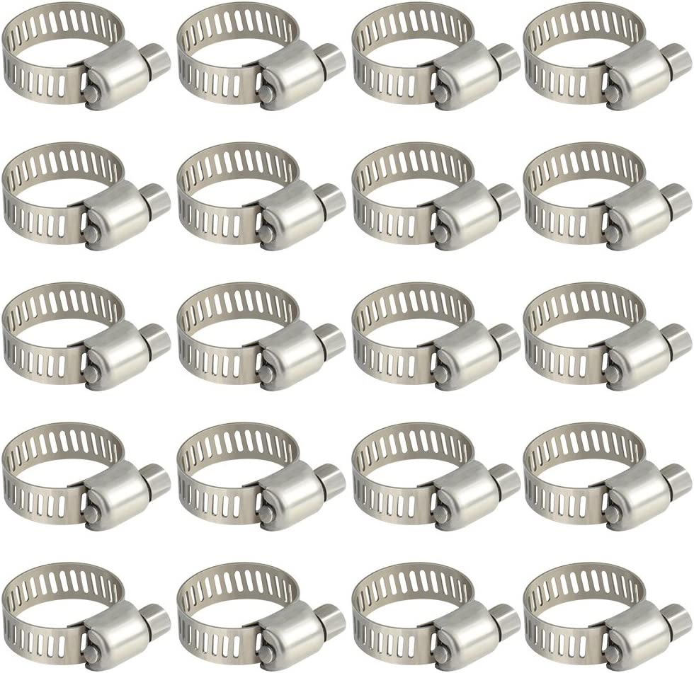 "10 X 44mm 1 3//4/""  Hose Clips Pipe Clamps Jubilee Type Worm Drive Steel ZP"