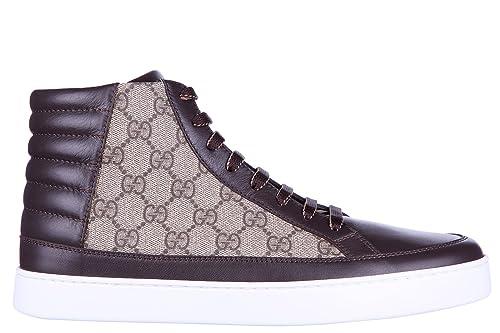 Gucci Zapatos Zapatillas de Deporte largas Hombres Nuevo GG Supreme Beige EU 44 411857 A9LN0 2167: Amazon.es: Zapatos y complementos