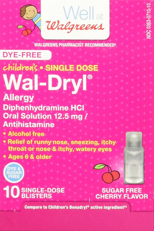 amazon com walgreens children u0027s wal dryl allergy medicine single
