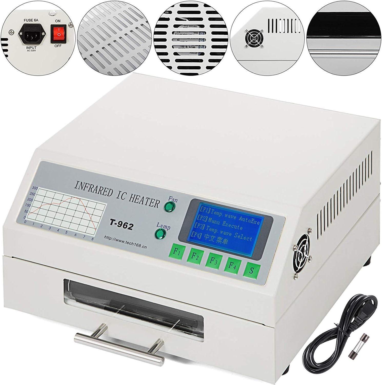 DCHOUSE T962 220 V a infrarossi di saldatura BGA IC Heizer riflusso forno cassetti 180 /× 235 mm 800 Watt