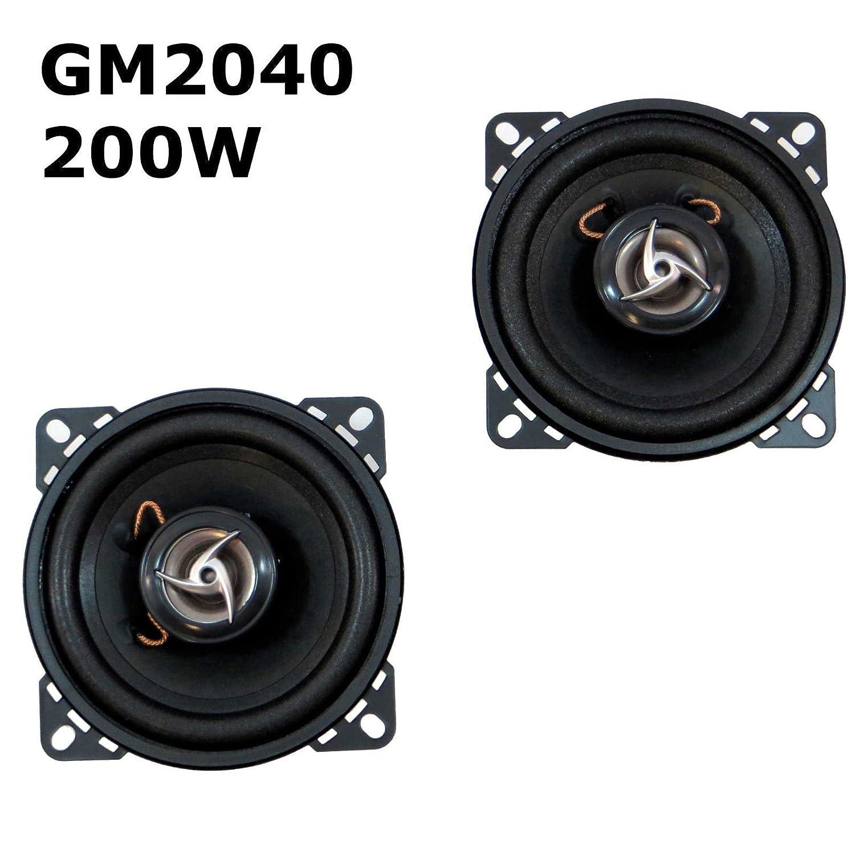 2 x Enceinte Haut-Parleur de voiture 200 W max Enceintes Paire de haut-parleurs 2 voies 100 mm gM2040 vinciann