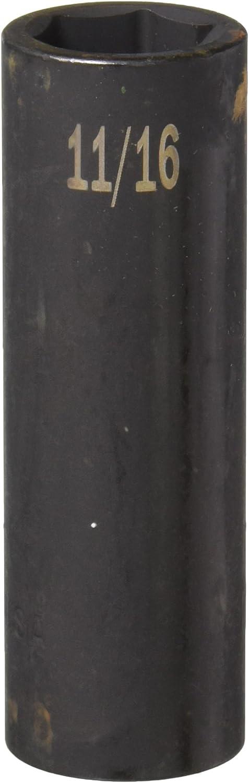 SK Hand Tool 34222 1//2-Inch Drive Deep Impact Socket 11//16-Inch