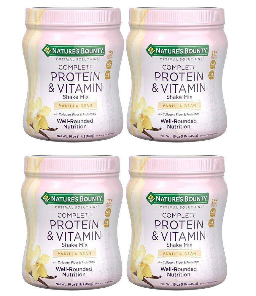 Optimal Solutions PAAYjk Protein & Vitamin Shake Vanilla, 4 Bottles (16 Ounces)