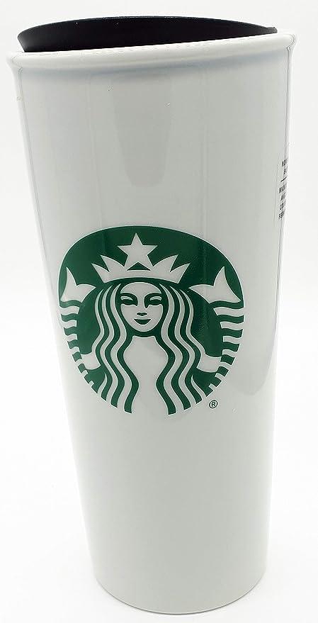 e856c10b529 Amazon.com: Starbucks Double Wall Ceramic Traveler Coffee Mug, 16 fl oz:  Kitchen & Dining