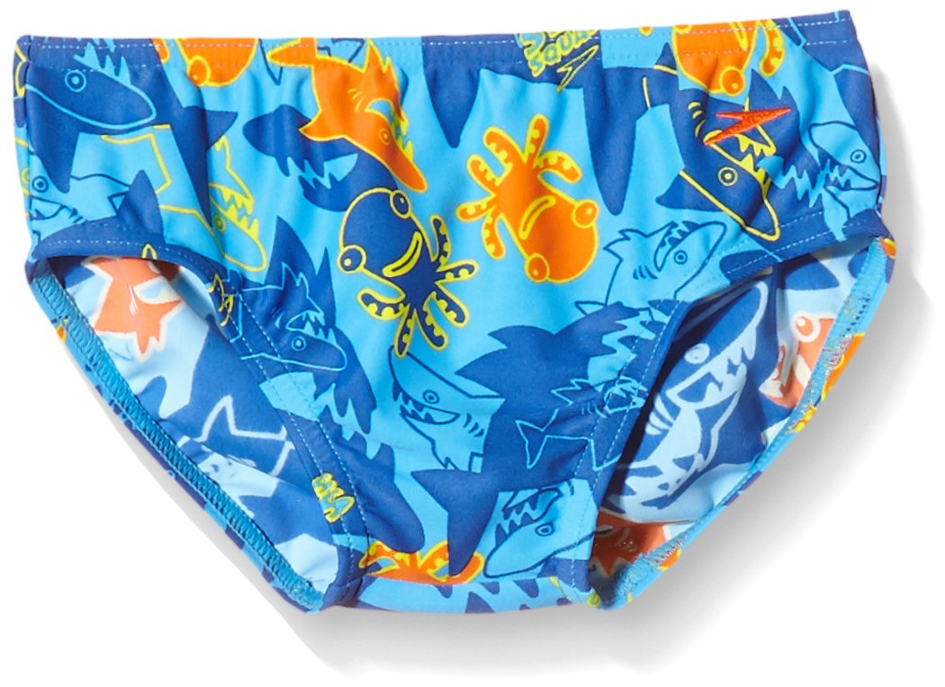 Speedo Boys' Seasquad Brief 1 year 68-09217A252_BLUE/BLUE-1