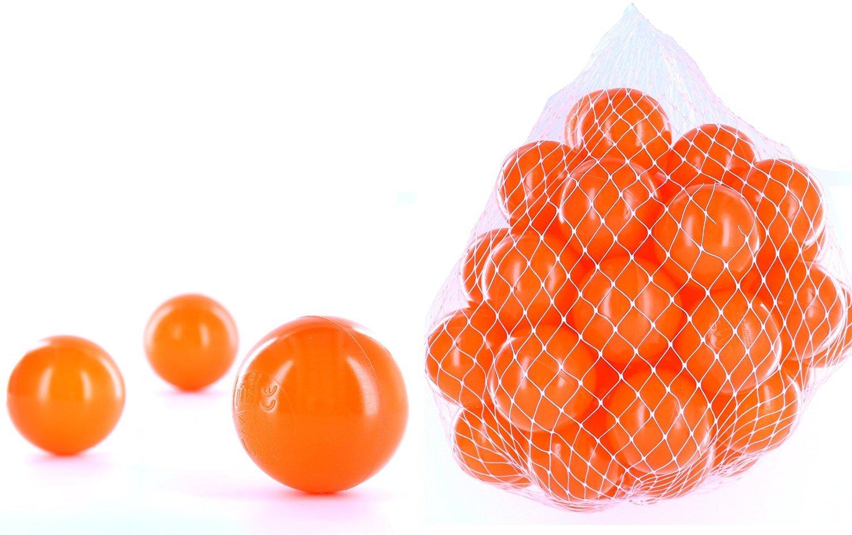 700 Bälle für ein Bällebad in der Farbe Orange für Kinder, Babys oder auch Tiere