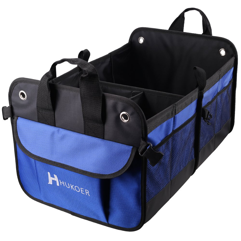 HUKOER Premium Trunk Organiser, Foldable Car Storage Container JJPSNX050000