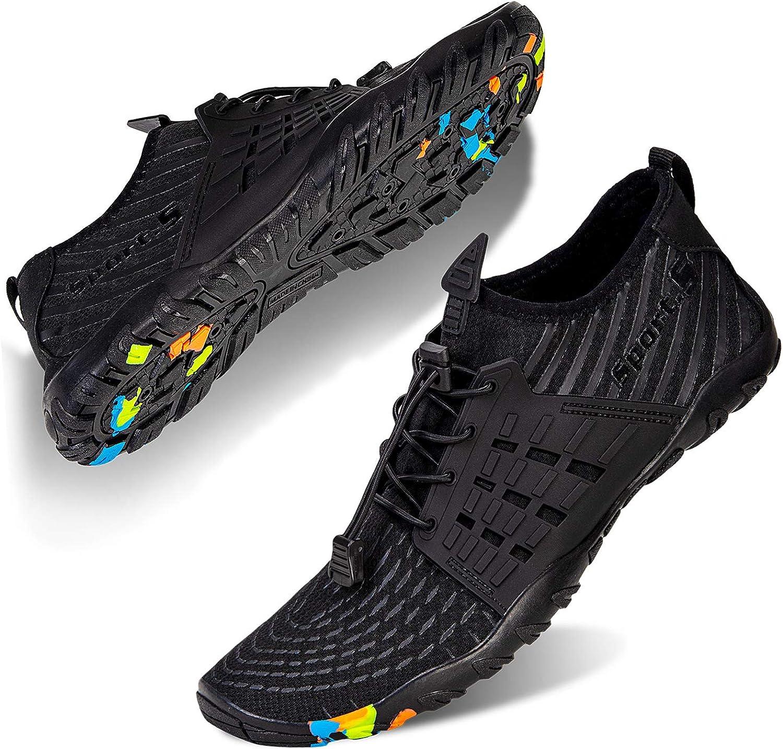 Mabove Chaussures Aquatique Homme Femme Chaussures de deau Chaussures de Plong/ée Surf Yoga Natation pour Piscine et Plage Bain S/échage Rapide