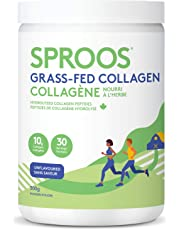Sproos Premium Grass-Fed Collagen Peptide Powder | Pasture-Raised, Non-GMO and Gluten-Free | Unflavoured and Odourless, Tub, 300g