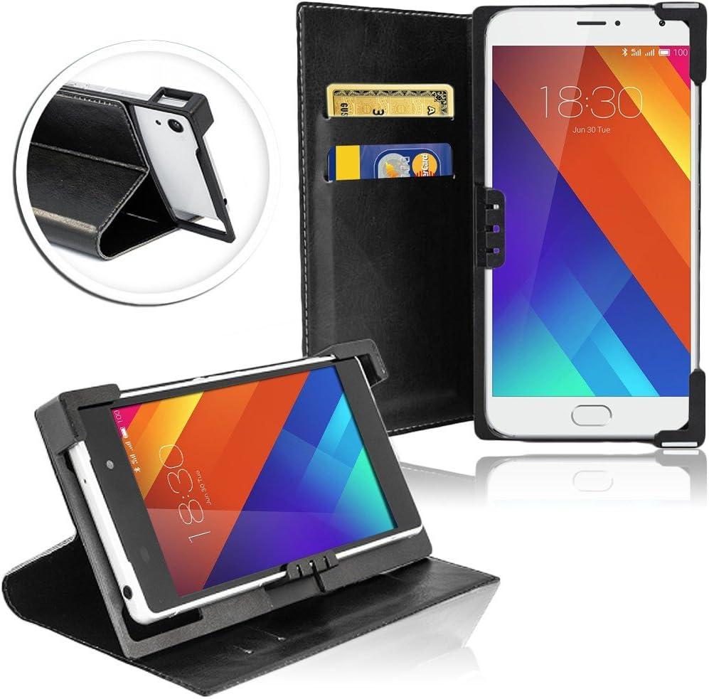 Universal de Teléfono Móvil de smartphone de Cover para Meizu MX5 Protección de Móvil Carcasa de Plástico para cámara flexible con Uso y flexible escuadras funda con función atril Combina – y