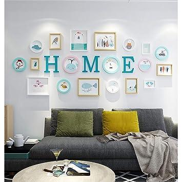 Fotowand Wohnzimmer Dekoration Sofa Hintergrund Wand Bild ...