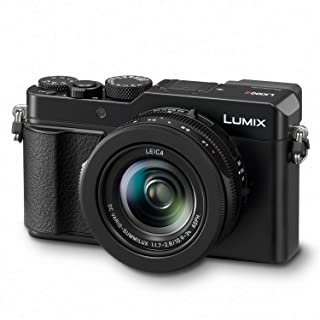 "Panasonic Lumix LX100 II Large Four Thirds 21.7 MP Multi Aspect Sensor 24-75mm Leica DC VARIO-SUMMILUX F1.7-2.8 Lens Wi-Fi and Bluetooth Camera with 3"" LCD, Black (DC-LX100M2)"