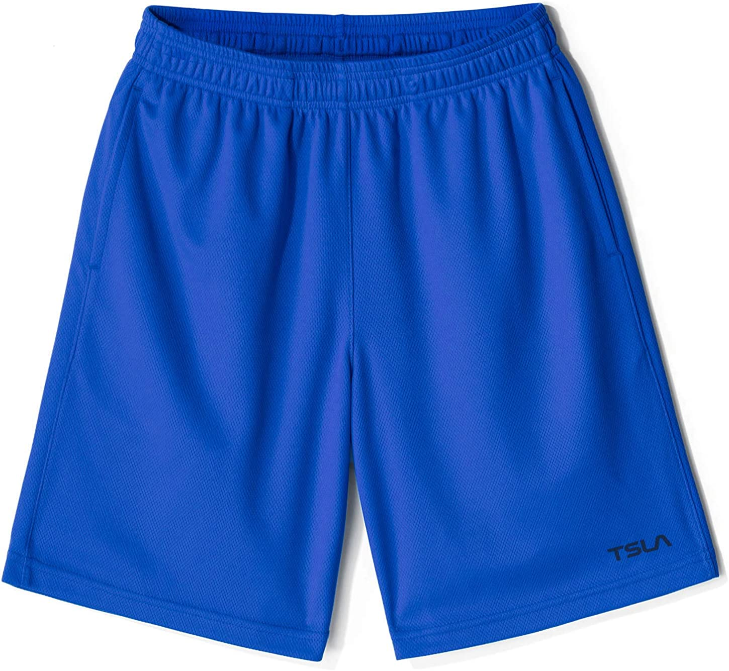 Active Sports Workout Gym Shorts Quick Dry Pull On Basketball Running Shorts TSLA 1 or 2 Pack Boys Athletic Shorts