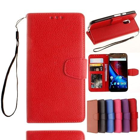 Motorola Moto G4 / G4 Plus Funda, adorehouse Flip Carcasa ...