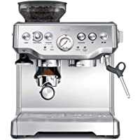 Sage BES875UK The Barista Express Coffee Machine with Temp Control Milk Jug, Brushed Stainless Steel