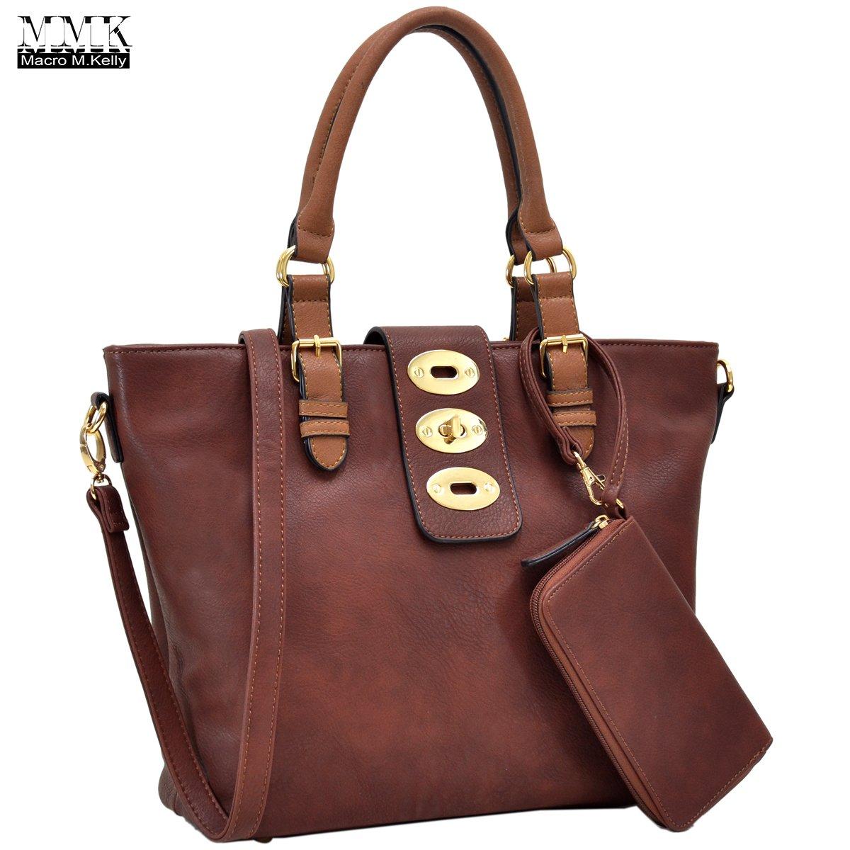 MMK collection Fashion handbag~Classic Tote bag~Holiday gift purse with Wallet~Beautiful Handbag wallet set~Crossbody handbag (MA-07-6717-CF/CF) by Marco M. Kelly (Image #1)