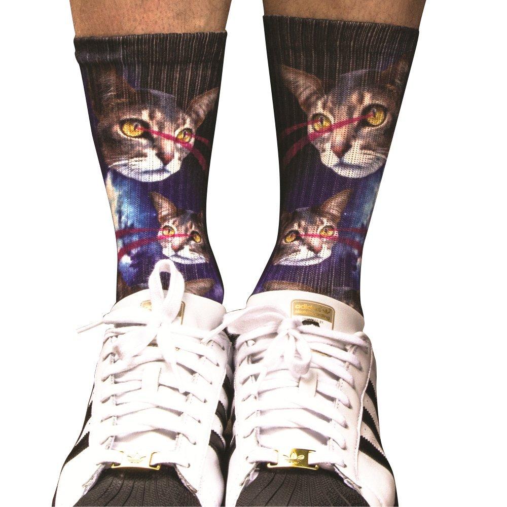 Samson Hosiery Socken mit 3D-Sublimationsdruck, von Hand bedruckt, modisch, für den Alltag, Unisex 2Pac