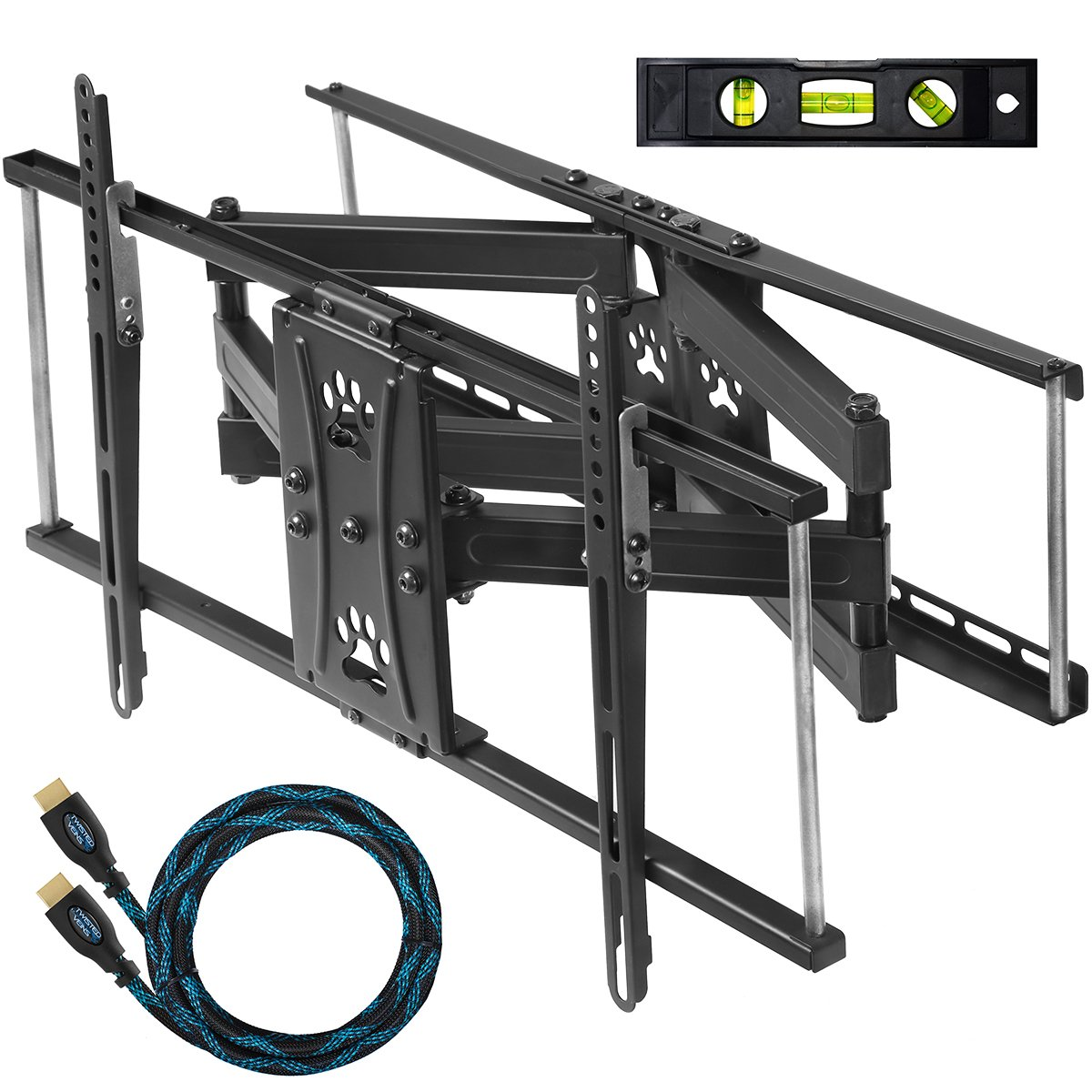 amazoncom cheetah mounts apdam2b dual arm 20u201d extension tv wall mount bracket for 3265u201d tvs many up to 75u201d or more up to vesa 600 and