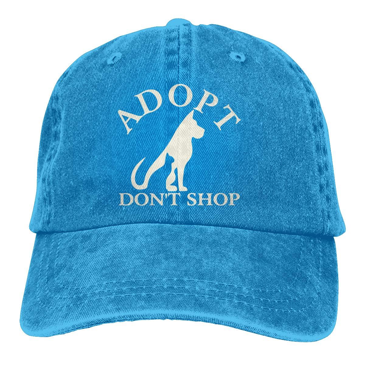 PMGM-C Adopt Dont Shop Unisex Personalize Cowboy Hip Hop Cap Adjustable Baseball Cap