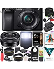 $799 » Sony a6100 Mirrorless Camera 4K APS-C ILCE-6100LB with 16-50mm F3.5-5.6 OSS Lens Kit and Deco Gear Case + Extra Battery + Flash + Wide Angle & Telephoto Lens + Filter Kit + 64GB Accessories Bundle