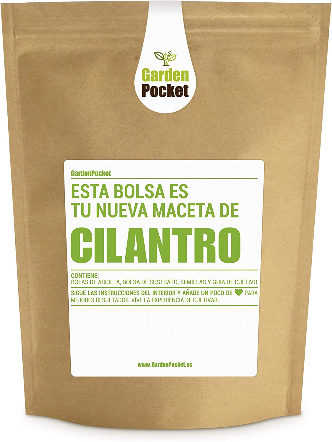 Garden Pocket - Kit de Cultivo de CILANTRO - Bolsa Maceta: Amazon ...