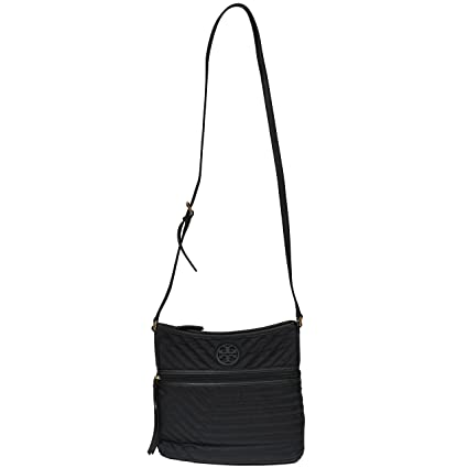 06ad0b88ee4 Buy Tory Burch Crossbody Nylon Quilted Swingpack Tote Blue Nylon (Black) Online  at Low Prices in India - Amazon.in