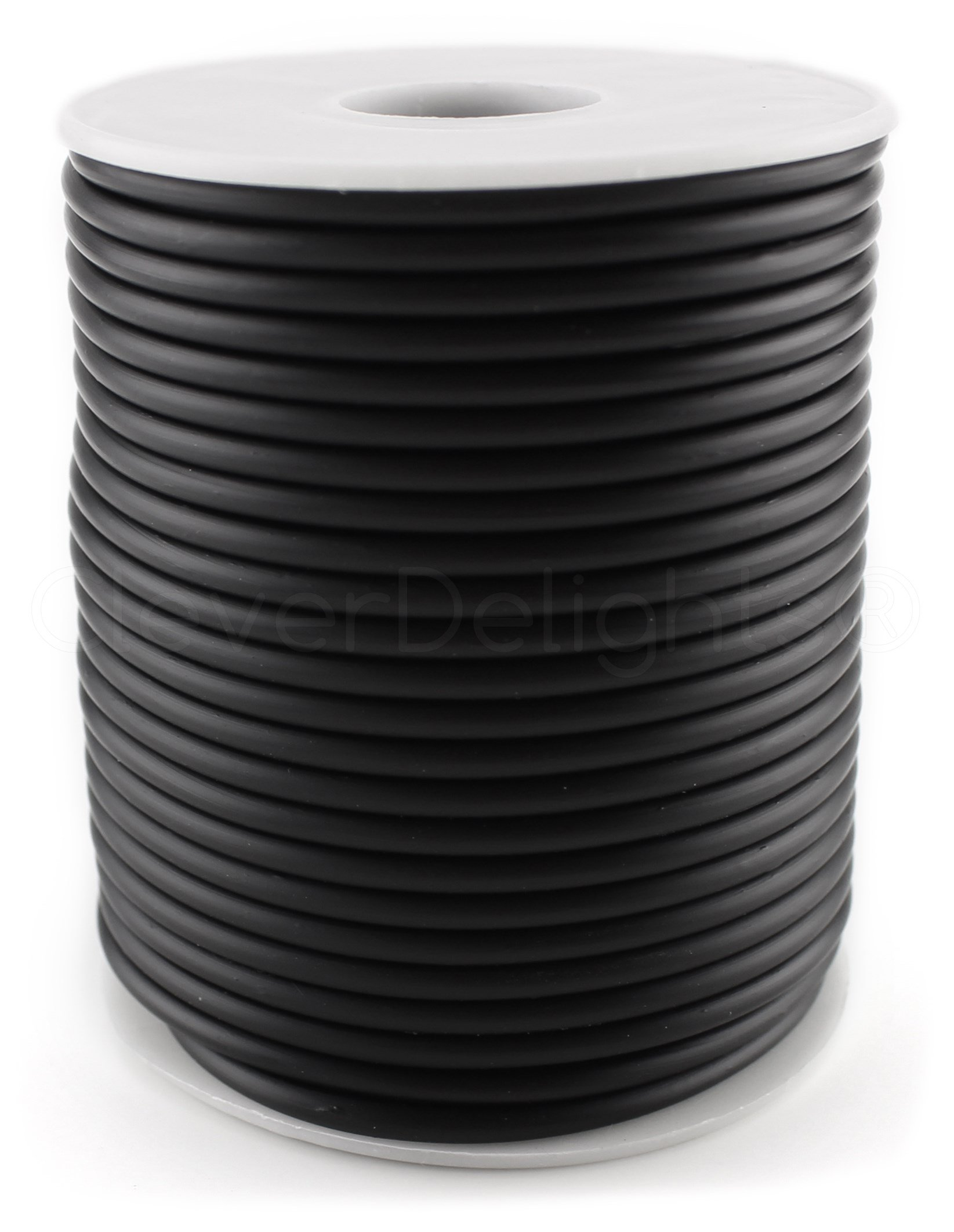 CleverDelights Black Hollow Rubber Tubing - 150 Feet - 3mm Diameter Tube Cord - 3/32'' OD x 1/32'' ID by CleverDelights