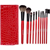 ACEVIVI 12 pcs Makeup Brush Set Professional Kabuki Cosmetics Foundation Blending Blush Eyebrow Eyeliner Eyelash Face Powder Brush Makeup Brush Kit with Bag