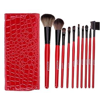 Amazon.com: ACEVIVI 12 piezas Juego de brochas de maquillaje ...