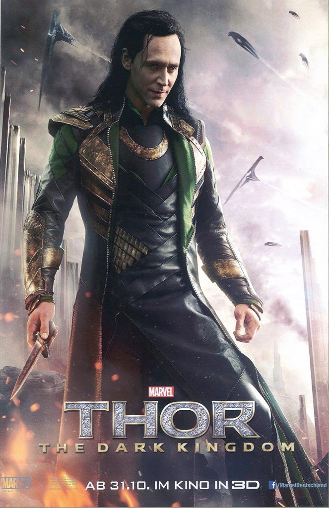 The Avengers Thor Dark World Loki Close Up 11 x 17 Movie Poster Litho and with FREE COMIC CON GIFT! avgIM0111720