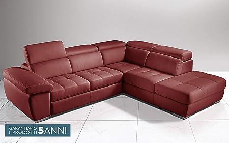 Divano Letto Angolare Nuovo.Dafne Italian Design Divano Letto Angolare 3 Posti Con Penisola A