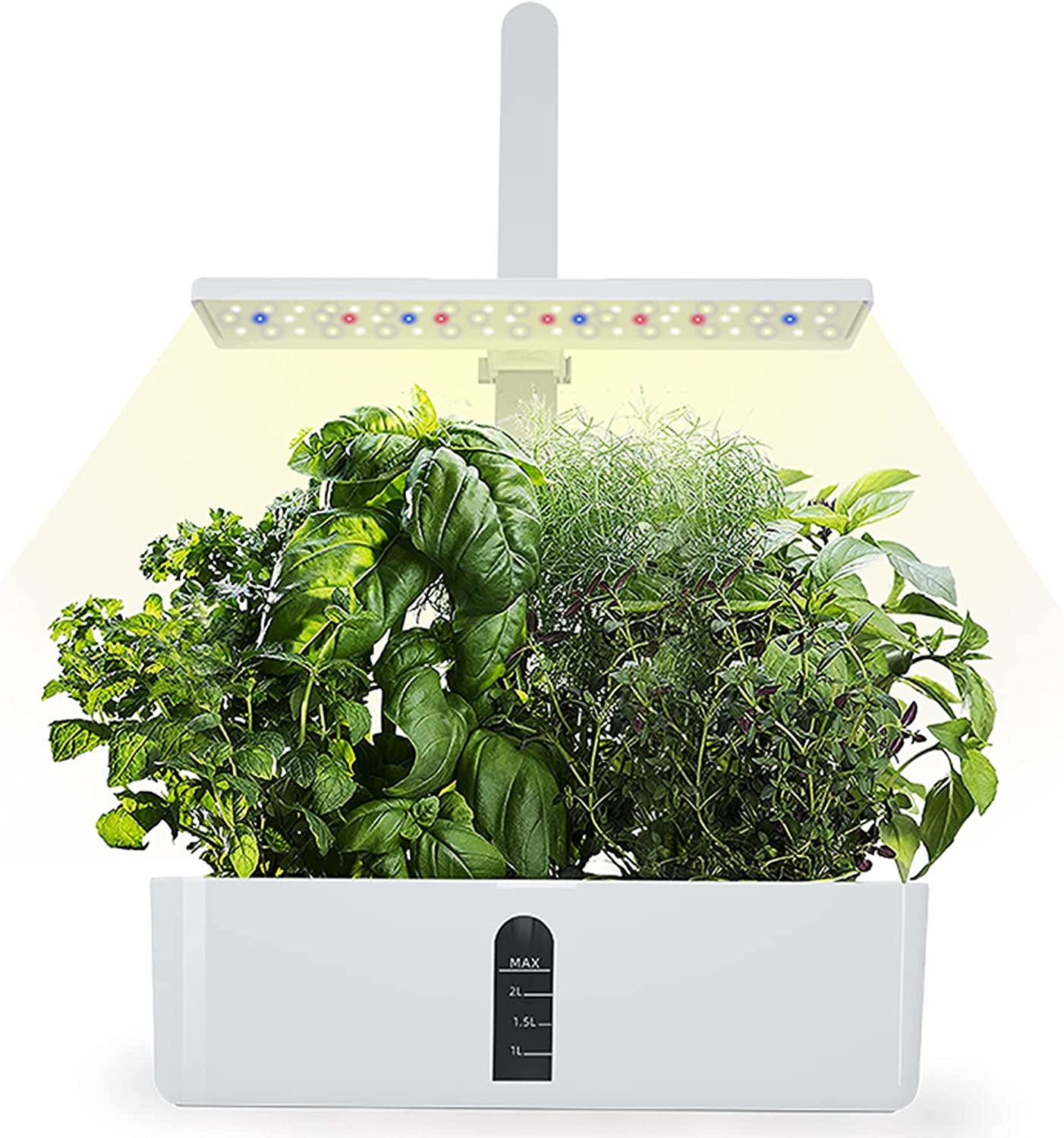 Indoor Hydroponics Growing System, Langkou 9 Seed pods Herb Garden Germination Kit with Automatic Timer LED Grow Light, Height Adjustable, Vegetable Gardening System for Home Kitchen