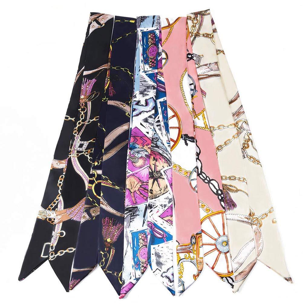 LibbyPet Bamboo Handbags for Women Handmade Bamboo Bag Summer Beach Tote bag (5pcs Scarves #2) by LibbyPet (Image #1)