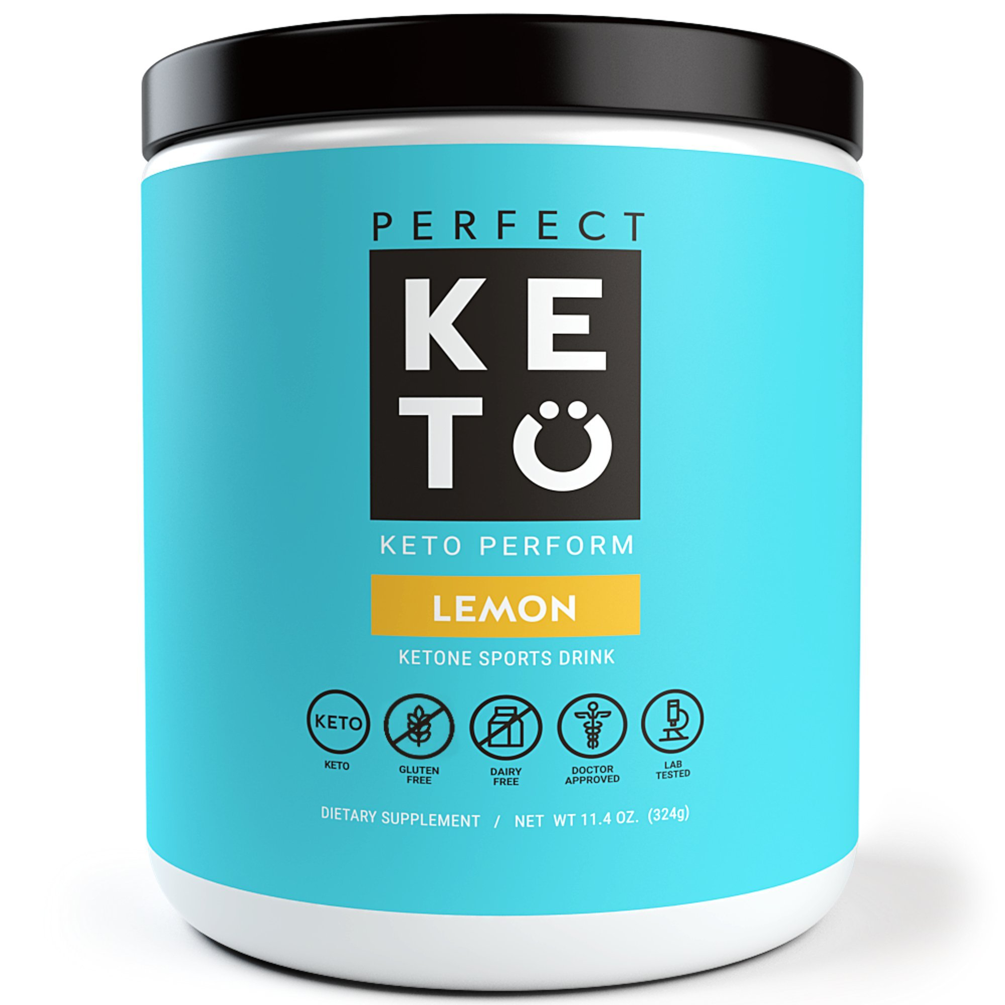 Perfect Keto Perform Preworkout Supplement: Pre Workout Powder for Ketosis & Ketogenic Diet. BHB Ketone Salts for Men & Women. BCAA, Nitric Oxide & MCT to Burn Fat for Fuel - Sport Gym Workout Drink