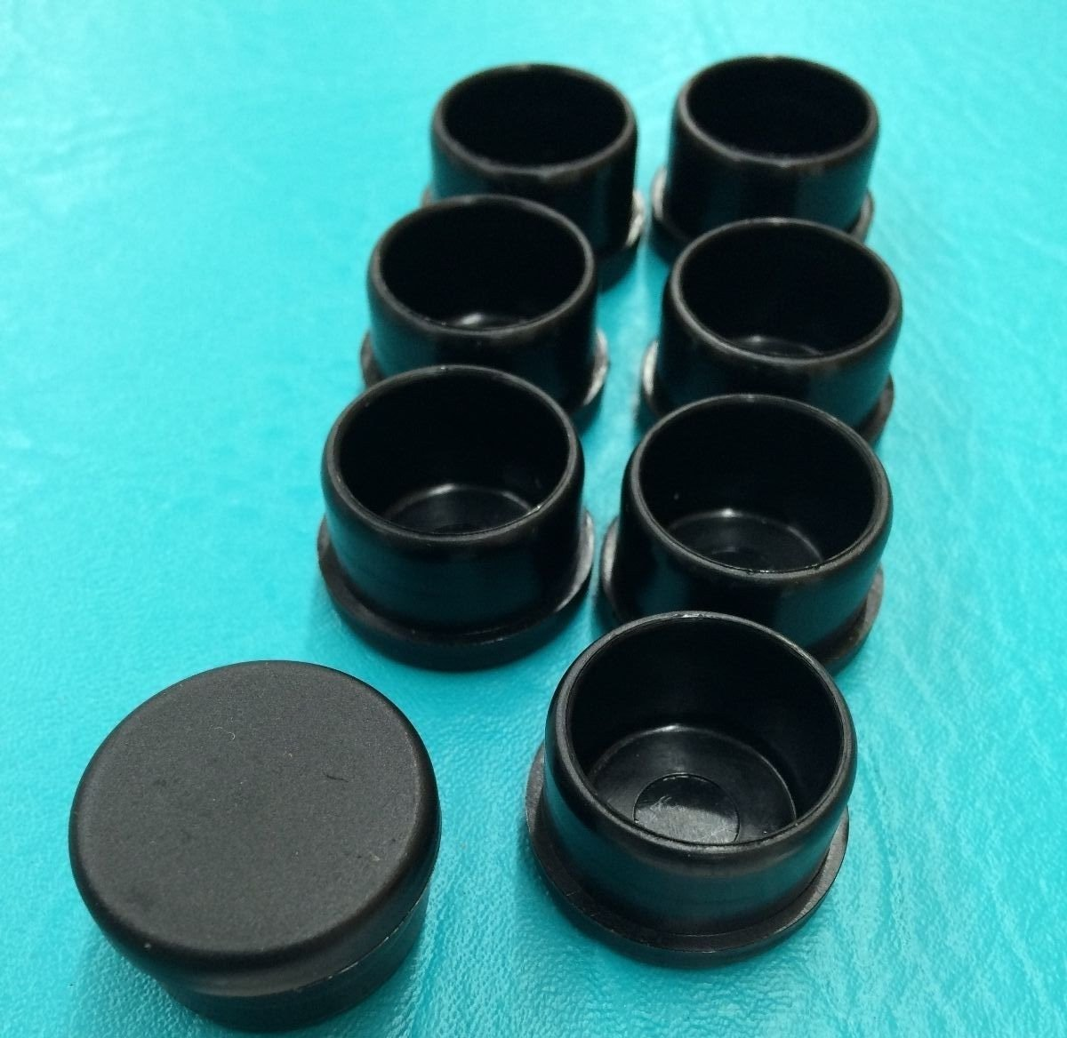 Amazon com 8 eight black plastic patio chair leg tube feet inserts cups 1 inch glide caps 1 kitchen dining