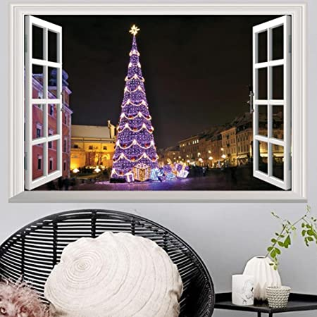 2018 Merry Christmas 3D Window Stickers Indexp Xmas Happy New Year Home Shop Office Wall