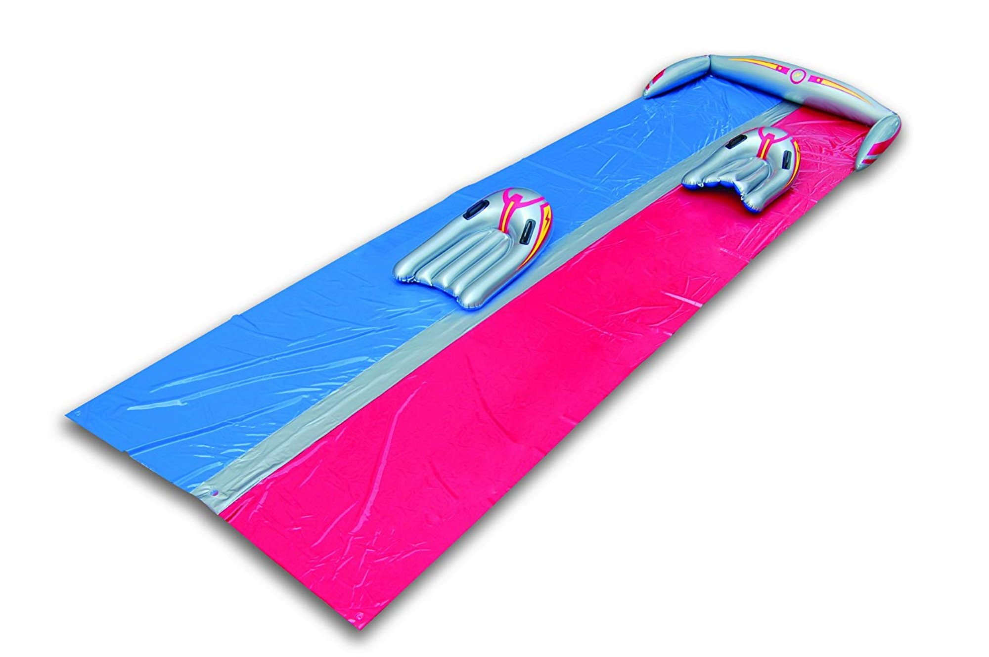 Inflatable Slip N Slide. This Big Sprinkler Tunnel Kiddie Blow Up Above Ground Long Waterslide Is Great For Kids & Children, Aqua Splash To Have Outdoor Water Fun With All Family. 14 Foot