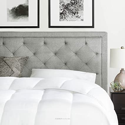 Bon Brookside Upholstered Headboard Diamond Tufting   King/California King    Stone