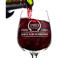 Birthday Vintage Wine Glass