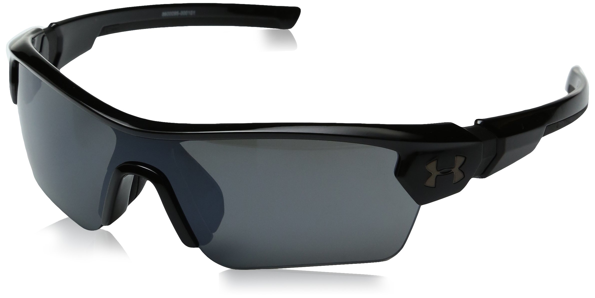 Under Armour Kids' Ua Menace Wrap Sunglasses, Black/Gray, 58 mm